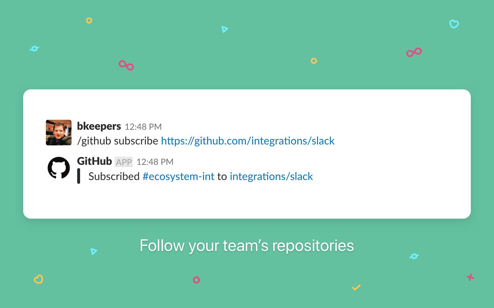 Slack + GitHub screenshot