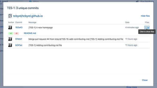 Jira Software + GitHub screenshot