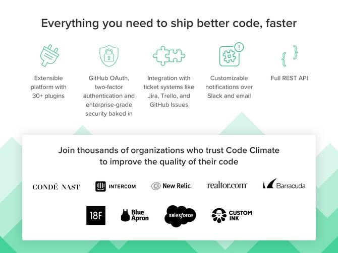 Code Climate screenshot
