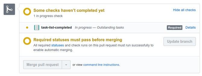 Task list completed screenshot