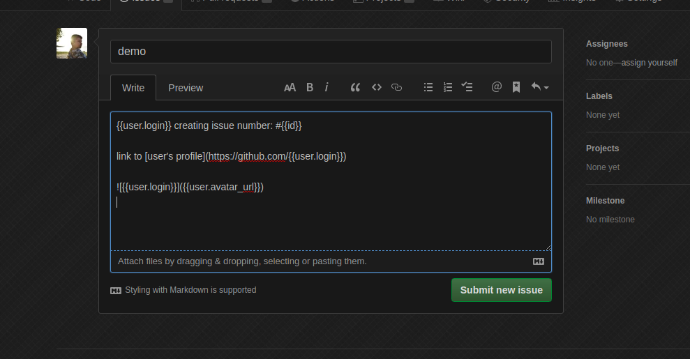 Screenshot of Handlebar Templates app
