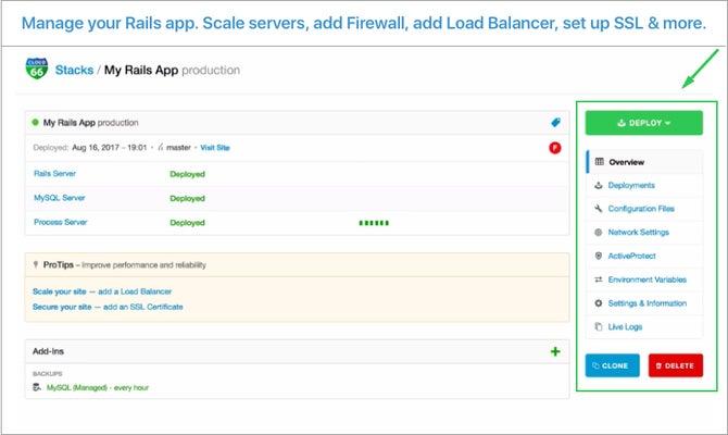 Cloud 66 for Rails  screenshot